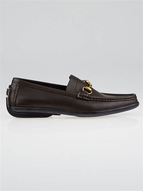gucci driver loafers gucci brown leather horsebit driving loafers size 7