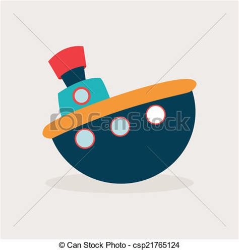 boat drawing cute toy boat abstract cute toy on a white background vector