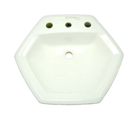 top mount sink bathroom american standard 0485 013 020 hexalyn top mount sink white