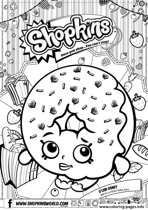 shopkins coloring pages cupcake queen shopkins d lish donut coloring pages printable