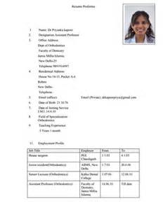 Engineering Resumes 10 Dentist Resume Templates Free Pdf Samples Examples
