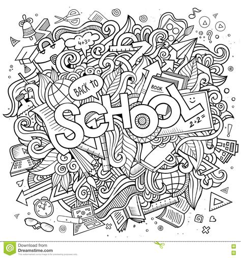 doodlebug academy doodles school illustration stock vector