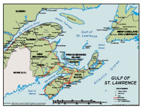 gulf of st canada map social studies 10 european explorers