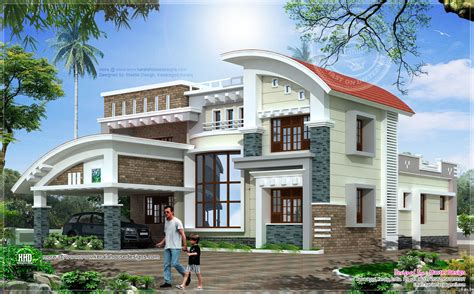 modern luxury house in 3073 sq home kerala plans