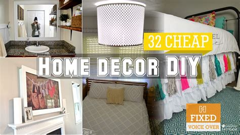 diy inexpensive home decor 32 cheap home decor diy ideas new v o youtube