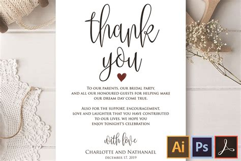 wedding note printable card template
