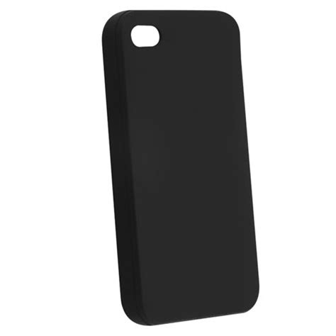 Softcase Black Matte Iphone 4 4g 4s Soft Black soft black silicone rubber for iphone 174 4 4s 4g 4gs g x phone gadgets