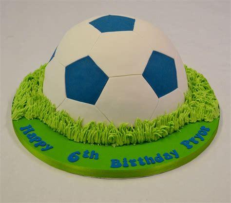 football cake images blue and white half football cake boys birthday cakes