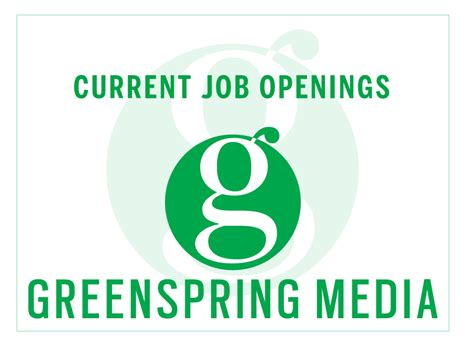 current job opportunities job openings greenspring media