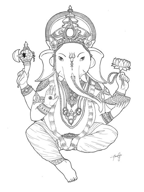 ganesh tattoo template ganesha tattoo sketch templates