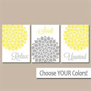 Yellow gray bathroom wall art canvas or prints bathroom artwork
