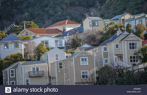 houses to buy in wellington typical old houses in wellington new zealand ascot street wooden stock photo royalty