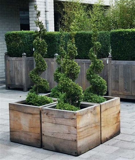 Large Wooden Planter Boxes by Best 25 Garden Planter Boxes Ideas On Planter