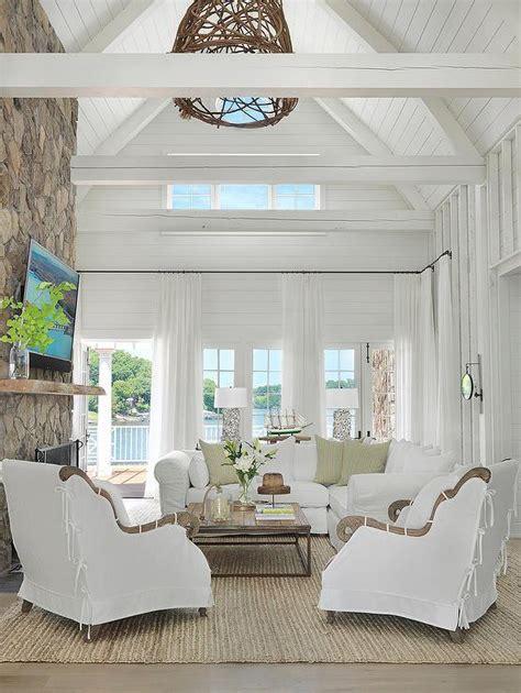 Shiplap Cottage Shiplap Living Room Ceiling Design Ideas