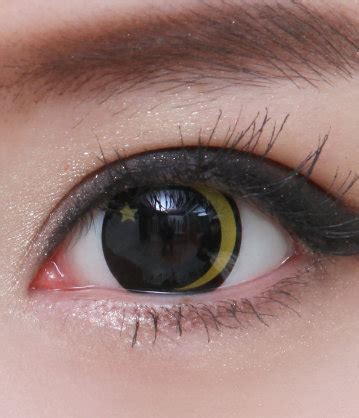contact lens geo crazy lens sf 67 yellow moon star