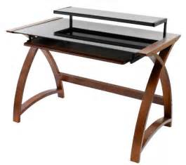 Glass And Wood Computer Desk Wood And Glass Desk A Classic And Weightless Solution For Your Study