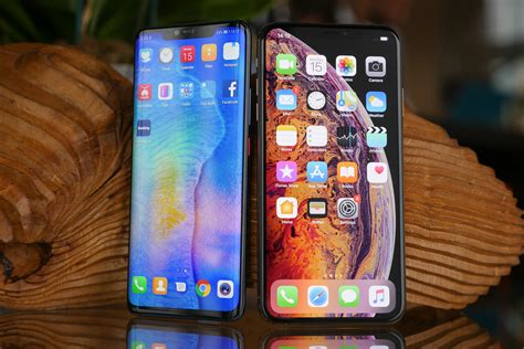 compare huawei mate 20 pro vs apple iphone xs max