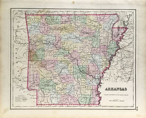 antique state maps antique map arkansas state map 1857 scrimshaw gallery