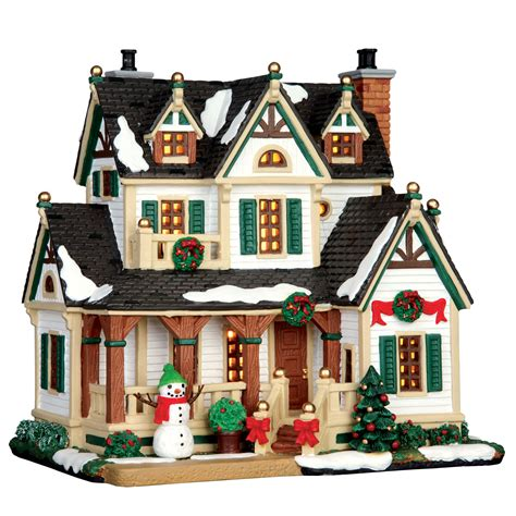 christmas village houses lemax village collection christmas village building westfield house seasonal