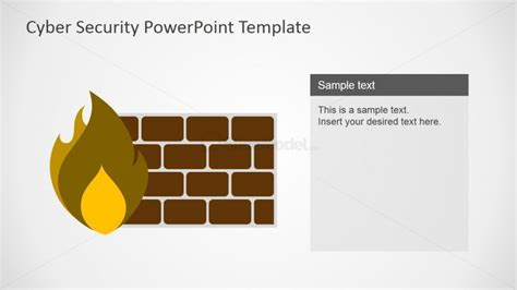 Computer Firewall Shapes For Powerpoint Slidemodel Cyber Security Program Template