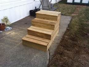 rv stairs with handrails unique wooden portable steps for your travel trailer