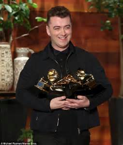 how is sam smith feeling after celebrating his grammy victory celebration time sam smith chatted about how he