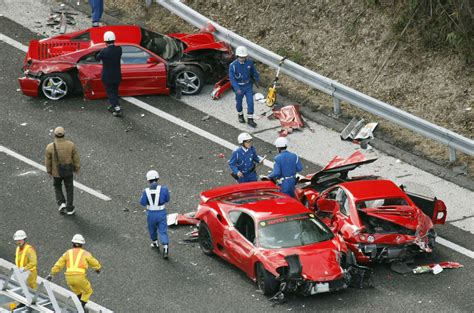 Car Crash: 14 Car Supercar Crash