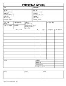 Proforma Invoice Template by Free Proforma Invoice Template Word