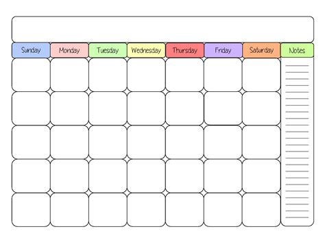 Free Printable Blank Calendar Templates 8 best images of free printable calendar templates