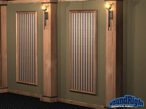 acoustical framed wall panels  home theaters