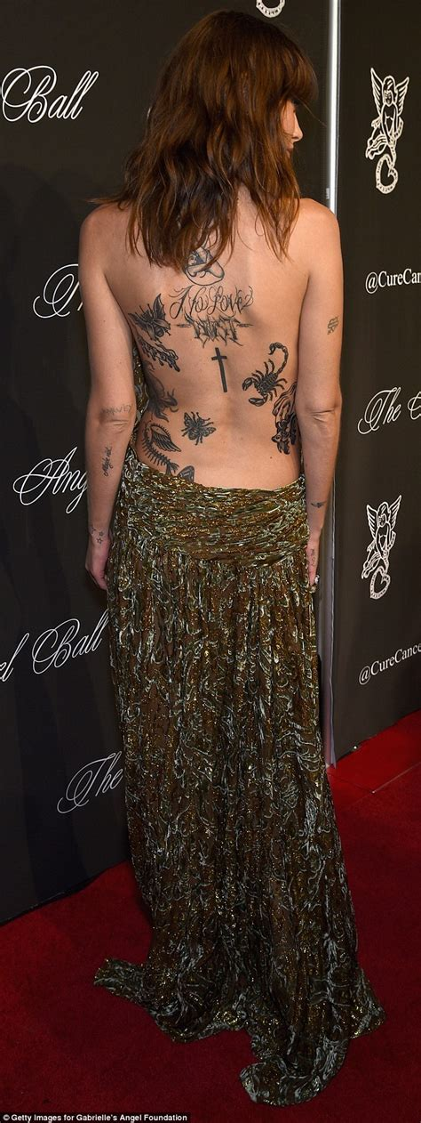 back tattoo what to wear catherine mcneil in backless dress at angel ball in