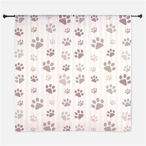 dog print curtains pawprint window curtains drapes pawprint curtains for