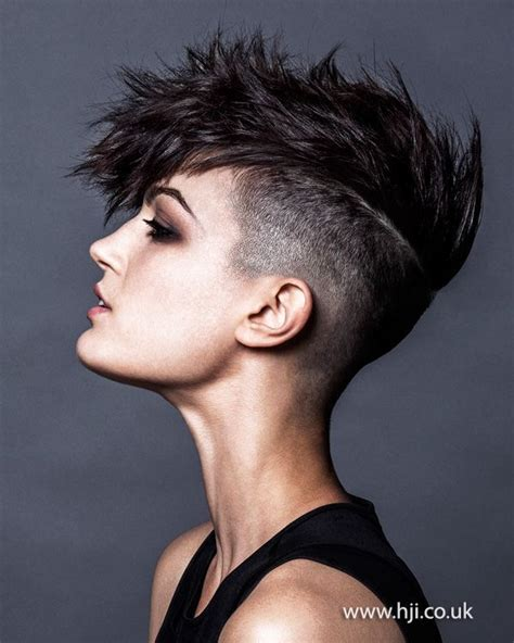 spikey shaved 20 short spiky hairstyles for women undercut black and
