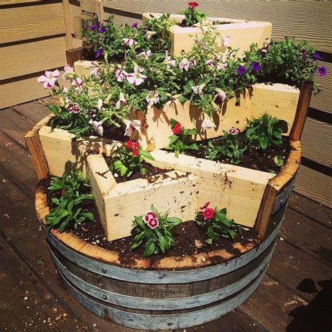 Whiskey Barrel Planter Ideas by Whiskey Barrel Flower Planter Things I Like