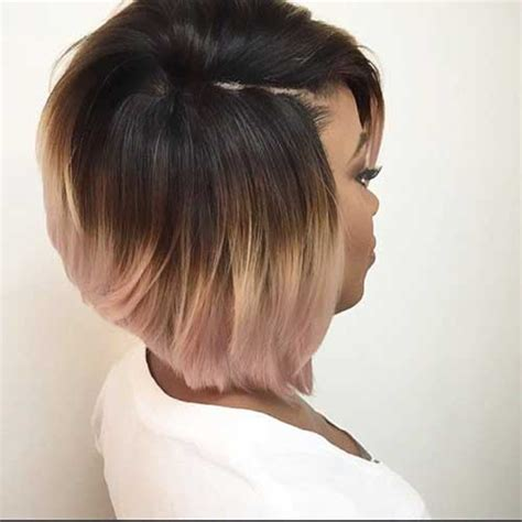 Black Hair Style Gallery by The Gallery For Gt Ombre Bob Hairstyle Black