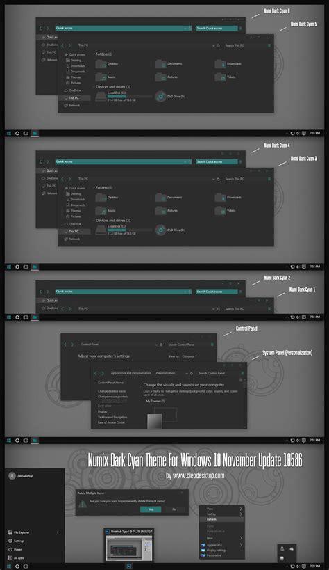 numix theme for windows 10 numix dark cyan theme windows 10 november update by