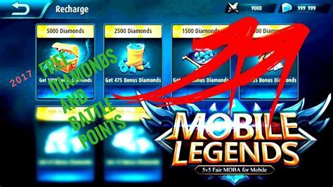 mobile legends hack 2018 free diamonds youtube mobile legends how to get free diamonds and battle points