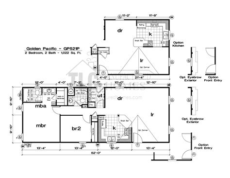 manufactured homes plans floor plans golden pacific series tlc manufactured homes
