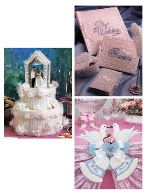 wedding cake box  stitch  plastic canvas