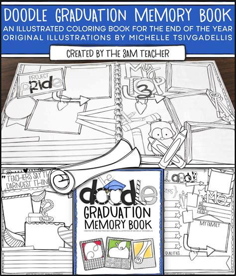 deb s doodle do coloring book two books illustrated doodle graduation memory book coloring book