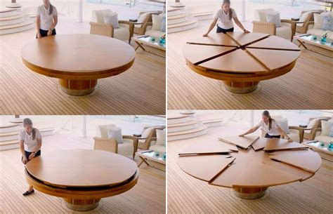 Expanding Circular Table by Table Expandable Design Home Decorating Trends