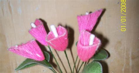 Benang Woll kerajinan tangan bunga benang woll