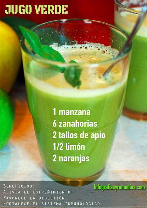 Jugo Verde Detox Ingredientes by Jugo Para El Estre 241 Imiento Verde Y Digestivo