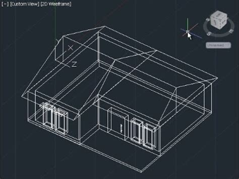 how to design a 3d house in autocad autocad 3d house modeling tutorial beginner basic youtube