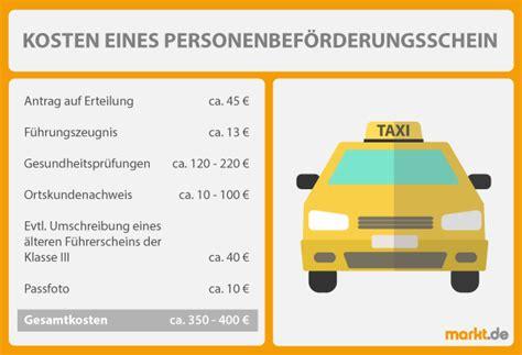 Motorrad Führerschein Erweiterung Kosten by Wie Viel Kostet Ein Taxischein Markt De