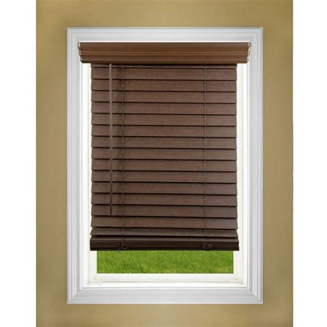 lift window treatment oak 2 in cordless faux