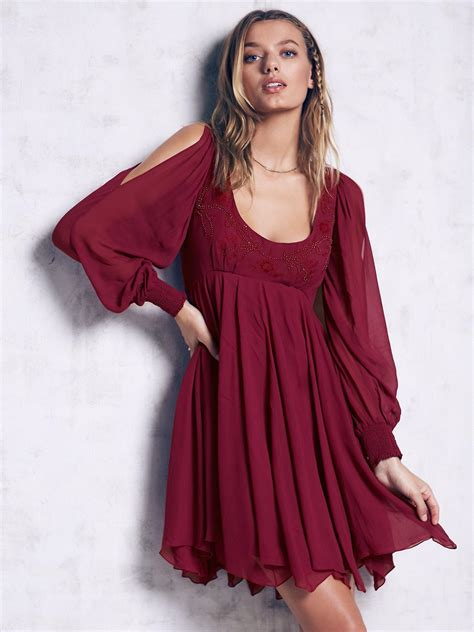 free people swing lyst free people tatiana swing dress in purple