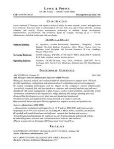 it manager exle resume