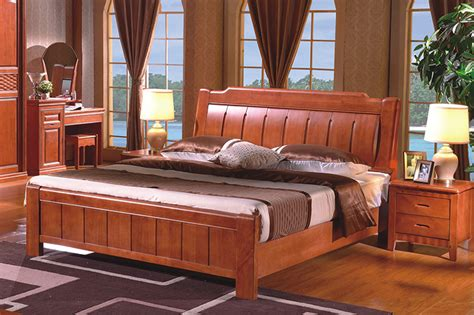 Wood Framed Beds High Quality China Guangdong Furniture Solid Wood Frame