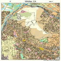 whittier california map 0685292